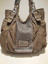 Brand New Guess Furious Faux Leather Taupe Color Large Size Shoulder Handbag