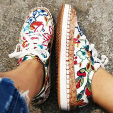 WOMENS LADIES SNEAKERS TRAINERS COLORFUL SPORTS CASUAL LOW FLAT LOAFERS SHOES
