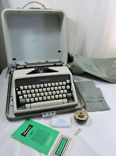 Vintage 1960s Olympia SM7 Deluxe Portable Typewriter With Case Pica Type