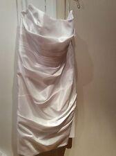 Galina Size 16W white Dress Strapless Short  Cocktail Wedding Gown Back Zip