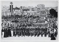 Italienische Flieger-Legionäre in Genua. Orig-Pressephoto, von 1939