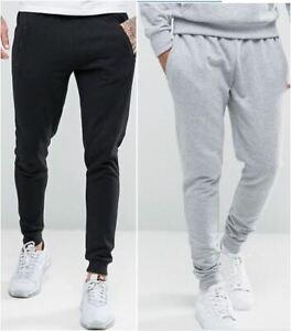 Mens Joggers Track Jogging  Fleece Pants Slim Bottoms Pockets Cuff Hem by RAGGS