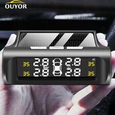 Smart Car Tire Pressure Monitoring System Solar Power Digital Tmps Lcd Displays