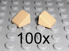 LEGO - 100x Dachstein 30 Grad 1x1x2/3 tan beige - Slope Schrägstein 54200