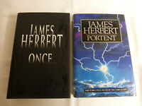 James Herbert - Portent, Once (Hardbacks)