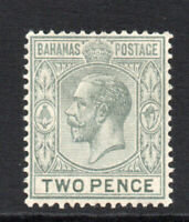 Bahamas 2d c1912-19 Mounted Mint Stamp (2388)