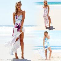 Women's Summer Dress Boho Long Maxi Beach Dress Evening Cocktail Party Sundress
