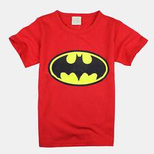 Niño Infantil Superman Spiderman Casual Verano Camiseta de Manga Corta Camisas