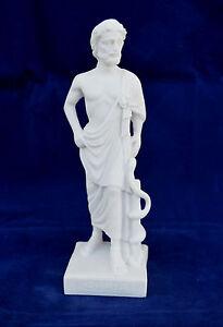 Asclepius Alabaster statue Ancient Greek God of medicine artifact