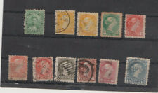 Canada Used Stamps. Large Queens Sc 35-40.and Scott 18.(missed perfs) 2c mint?