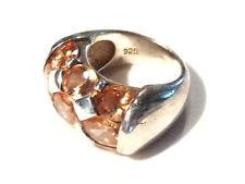 Bijou argent 925 bague cristal morganite taille 55 ring