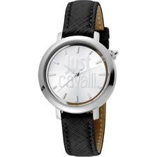 Orologio JUST CAVALLI mod LOGO re JC1L007L0015 Donna pelle nero solo tempo