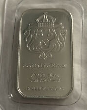Scottsdale Solid Silver 'the one' 1 Troy oz .999 Fine Silver Bar In God We Trust