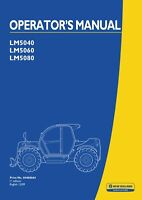 NEW HOLLAND LM5040 LM5060 LM5080 TELEHANDLER OPERATORS MANUAL