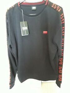 883 POLICE Mens ashton Sweatshirt Stylish Long Sleeve navy medium