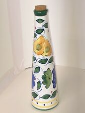 Ganz ceramic bottle. with cork. Bella Casa. great shape. colorful 13� tall.