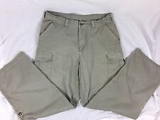 The North Face A5 Series Cotton Cargo Roll Up Hiking Travel Pants Size 36 Khaki