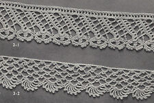Vintage Crochet PATTERN to make 2 Detail Lace Edging Designs Bands Insertions
