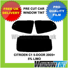 CITROEN C1 5-DOOR 2005+ PRE CUT WINDOW TINT 5% LIMO BLACK