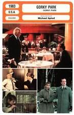 FICHE CINEMA : GORKY PARK - Hurt,Marvin,Dennehy,Apted 1983