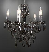 Sospensione Classico Lampada da soffitto Nero Chandelier Plastica Nuovo 9876