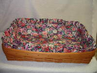 LONGABERGER BASKET SU PETUNIA FLORAL LINER ONLY for HOSTESS SERVING TRAY