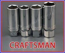 "CRAFTSMAN HAND TOOLS 4pc LOT 3/8"" drive spark plug ratchet wrench socket set"