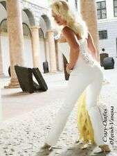Lederhose Leder Hose Knalleng Weiß Maßanfertigung