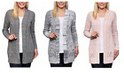 NEW Leo & Nicole Ladies' Marled Rib Trim Pointelle Cardigan VARIOUS COLORS/SIZES