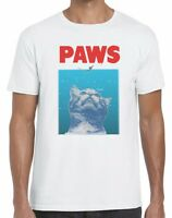 Jaws Movie T-Shirt PAWS! Cat Funny New Top Tee Unisex T Shirt