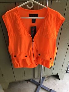 HUNTING VEST, BLAZE ORANGE, New XL MOC