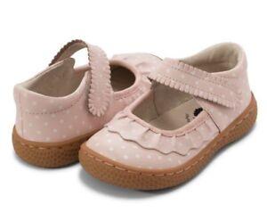 NEW Girls Livie & Luca Pink polka dot Ruche mary jane shoes Sz 3 Youth Big Girl