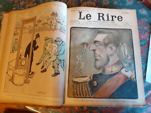Le Rire, Humour, caricature, reliure 1901