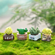 4x/lot Plant Diy Resin Fairy Garden Craft Decoration Miniature Micro Gnome Ni$B