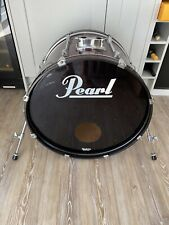 More details for 22in pearl bass drum in metallic wine red wrap for drum kit free p&p