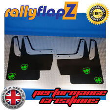 rallyflapZ SUBARU IMPREZA Classic (93-01) Mudflaps Black JDM Pig Green 4mm PVC