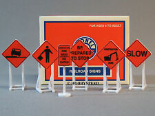 LIONEL CONSTRUCTION ZONE SIGNS #2 o gauge train display set of 6 hazard 6-81064