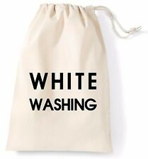 White Washing XL Lightweight Bag Printed Cotton Storage Laundry Cleaning Drying