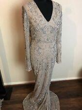 Bnwot Maya Asos Maxi Vintage Red Carpet Party evening Sequin  Flapper Dress 12