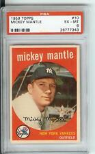 1959 Topps #10 Mickey Mantle  PSA EX-MT 6  #26777343  YANKEES