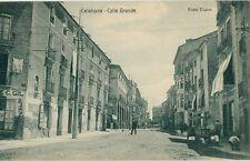 Tarjeta Postal. CALAHORRA. Logroño. Calle Grande. RARA. KALLMEYER y GAUTIER.