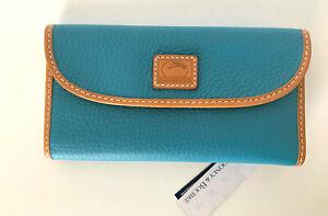 NEW! Dooney & Bourke Leather Clutch/Wallet-Turquoise