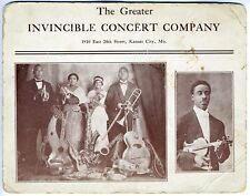 """""""The Greater Invincible Concert Company"""" - Vintage Musical Promotional Postcard"""