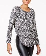 Chelsea Sky Women's Black Asymmetrical Hi Low Sweater
