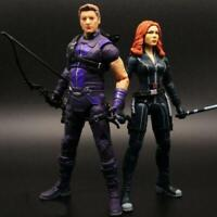 "Hawkeye Black Widow Lovers Action Figure Toy Collection 7"" Avengers 4 Endgame"