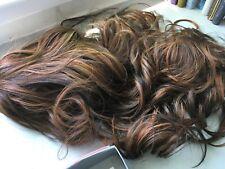 "CLIP IN DRAWSTRING WAVY CURLY 18"" LONG PONY TAIL HAIR PIECE  AUBURN 12/8/13"
