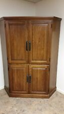 Traditional Corner Cabinet Unit With Doors - high quality wood