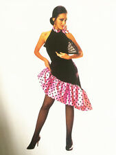 Flamenco Dance Womens Costume Spanish Mexican Dancer Fancy Dress Party D2002A