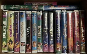 Disney VHS in clamshell cases lot of 17