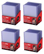 (100) Ultra-Pro Toploading Trading Card Holders Regular (4 Packs) Toploaders